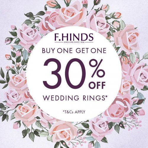 Buy one, get one 30% off on wedding rings
