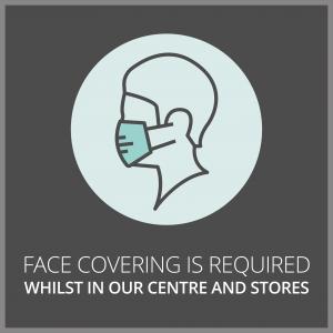 Face coverings at Crystal Peaks